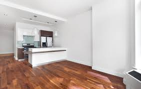 Hardwood Floor Apartment Compact Island City Apartment Interior Design In Open Plan
