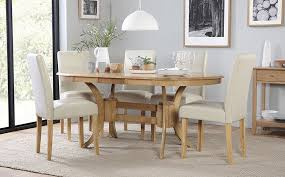 townhouse oval extending dining table and 4 chairs set city ivory