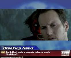 Darth Maul Meme - breaking news darth maul lands a new role in horror movie
