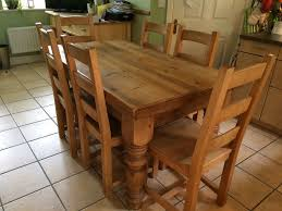 Solid Pine Chunky Country Farmhouse Rustic Solid Pine 5 U0027 X 3 U0027 Wooden Dining