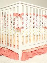 Shabby Chic Crib Bumper by Shabby Chic Crib Bedding Littlest Baby Bedding Peach Grey