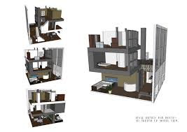 interior design student drawing hand bedroom photo rendering