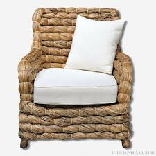 Seagrass Chairs Seagrass Wicker Banana Leaf Occasional Arm Chair U2013 The London Factory