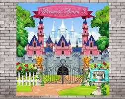 Castle Backdrop Princess Backdrop Etsy