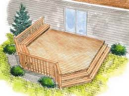 backyard deck designs plans shock elevations view a collection of
