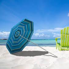 Lightweight Beach Parasol Rio 4 Ft Blue Clamp On Beach Umbrella Hayneedle