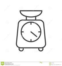 pictogramme cuisine la cuisine mesure la ligne icône signe de vecteur d ensemble