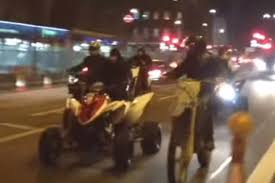 halloween rideout hundreds of masked bikers rampage through south