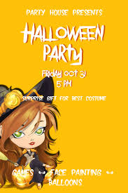 image template halloween party party house presents