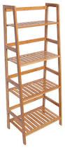 original color minisize bamboo 4 shelf bookcase ladder shaped