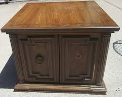 vintage living room end tables with storage design with broken