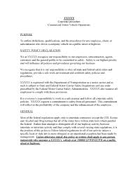 fleet policy and procedures template dot safety plus