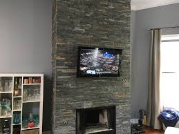 tv installation over fireplace on slate tile u2013 evolution installs