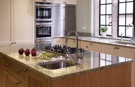 Kitchen Island With Sink by White Cabinets Granite Countertop White Wood Counter Wine Rack