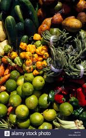 vegetables and fruits for sale at the market in castries st lucia