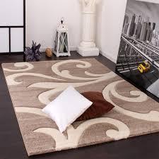 tappeti moderni grandi tappeto di design orlo lavorato moderno ondulato nei colori beige