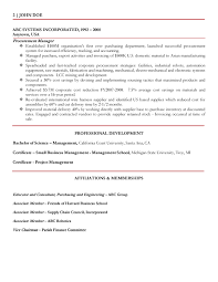 Procurement Sample Resume by Sample Resume Of Purchase Manager Free Resume Example And
