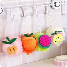 1 Pcs Lembut Cotton Creative Apple Buah Colorful Bath Spons Lucu
