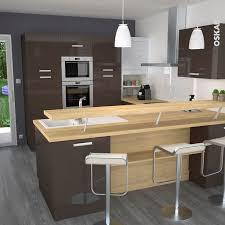 cuisine ultra moderne cuisine americaine petit espace 4 cuisine couleur taupe avec