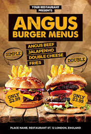 menu flyer template burgers offer food menu flyer template photoshop awesomeflyer