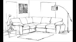 draw room how to draw a living room youtube