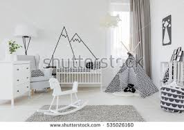 child room child room white furniture carpet tent stock photo 535026160