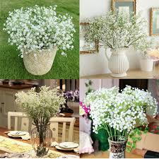baby s breath artificial baby s breath gypsophila silk 27 flowers bouquet