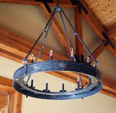 Forged Chandeliers Custom Forged Lighting Ponderosa Forge Ironworks