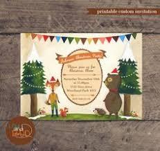 woodland fairy custom birthday printable party invitation on etsy