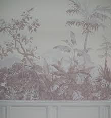 chambre des metiers avignon décor en grisaille copie de papier peint ancien chambre des