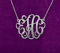 3 Initial Monogram Necklace Sterling Silver Aliexpress Com Buy 3 Initial Monogram Necklace 1 25 Inch
