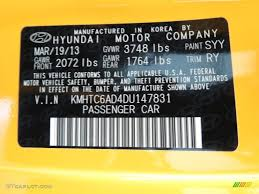 2013 veloster color code syy for 26 2 yellow photo 81025960