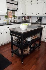 kitchen small black kitchen island portable kitchen trolley