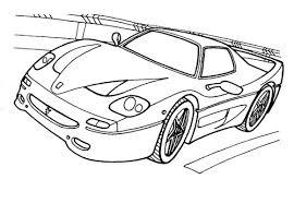 coloriage à imprimer véhicules voiture ferrari numéro 198246