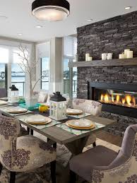 gorgeous dining room with 2 way gas fireplace morrison fine