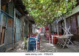 Grape Vine Pergola by Restaurant With Terraces With Grape Vines Grow Over Their Pergolas