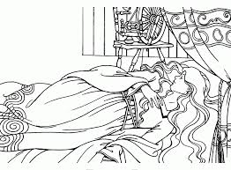 sleeping beauty pictures print coloring