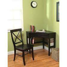 Small Black Corner Desk Simple Living Black Corner Desk And Crossback Chair 2 Study