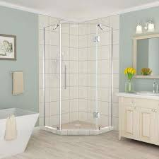 38 Neo Angle Shower Door Neo Angle Shower Doors Showers The Home Depot