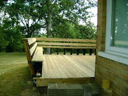 Decks With Benches Built In Deck Railing Seating Combo Slight Slant Is Nice Deck Bench Seating