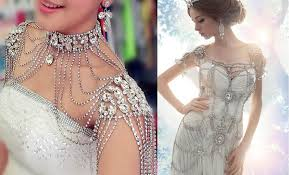 chain necklace dress images Beautiful shoulder chain necklace khoobsurat world jpg