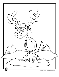 reindeer coloring pages animal jr