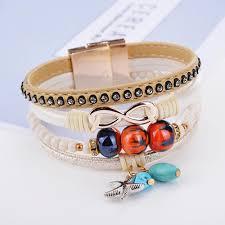 stainless steel cuff bangle bracelet images New leaves braided leather stainless steel cuff bangle bracelet jpg