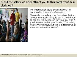 Front Desk Salary Hotel Top 10 Hotel Front Desk Clerk Interview Questions And Answers