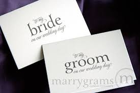 wedding card from groom to wedding card to your or groom on your our wedding day