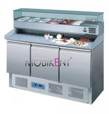 materiel cuisine lyon table à pizza 3 portes kit réfrigéré tpk03 mobikent