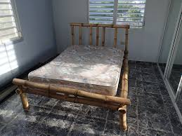 cheap homemade bed frame ideas from bamboo on black tile floor jpg