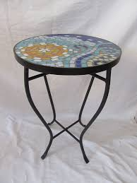 Iron Accent Table Sun And Wave Mosaic Black Iron Outdoor Accent Table Deals Finders