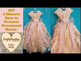 diy 5 minute crafts fabric tattered rag lace dress
