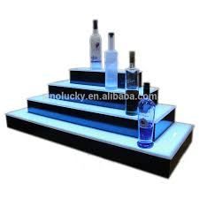 led lighted bar shelves 2 step led lighted bar shelves with led 3 tier acrylic shelf